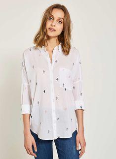 Buy Mint Velvet White Cactus Embroidered Shirt from the Next UK online shop Next Uk, Uk Online, Cactus, Shirts, Stuff To Buy, Shopping, Mint, Velvet, Tops