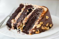 Snickers Cake ~ I will make this cake even tho it's sinful!