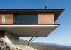 """""""Whoa"""" was the first word that popped into my mind when I saw House in Yatsugatake by Kidosaki Architects Studio. That extreme cantilever set on..."""