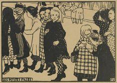 De kleine meisjes (Les petites filles), 1893, Félix Vallotton, Van Gogh Museum, Amsterdam (Vincent van Gogh Stichting)
