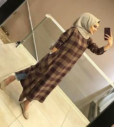 Image may contain: 1 person, indoor Hijab Dress Party, Hijab Style Dress, Modest Fashion Hijab, Modern Hijab Fashion, Frock Fashion, Casual Hijab Outfit, Islamic Fashion, Hijab Chic, Muslim Fashion