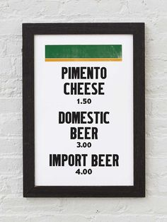 Man can not live on bread alone. But add some beautiful fairways, greens, pimento cheese and fermented drinks, and he can live just fine down in Augusta. This is a pre-sale. We'll print these up in a Mason Dixon Line, Restaurant Signs, Beer Bread, Pimento Cheese, Letterpress Printing, Custom Framing, Poster Prints, Posters, Diet
