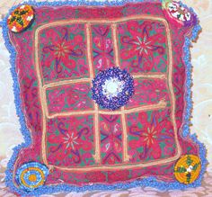 Vintage Central Asian Tribal Pillow/Cushion1 by oldsilkroute