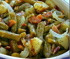 Bacon and Potato Green Beans