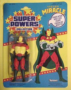 Kenner Super Powers Mister Miracle via collector Mark Brennan. Retro Toys, Vintage Toys, Comic Movies, Comic Book, Dc Comics Action Figures, Kenner Toys, Dc Comics Superheroes, New Gods, Dc Characters