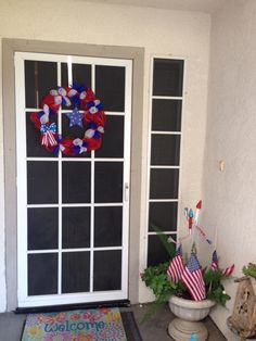 We started Fuson Family Challenge a year ago. Happy 1 year anniversary. Here is me patriotic project that took one year to finish and used a Christmas wreath base I already had.  I got 3 things done at once. I only have 97 more to go