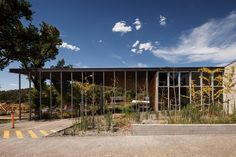 This police station by Kerstin Thompson Architects embodies a domestic and civic conversation. Australian Architecture, Police Station, Mid Century, Mansions, Landscape, Pets, House Styles, Modern, Trendy Tree