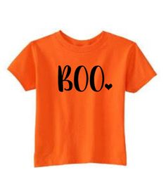 Cute baby girl Halloween shirt, BOO, Happy Halloween, baby's first