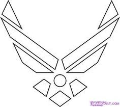 how to draw the air force symbol step 5  ArtsyDrawing