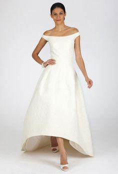 Certainly not for the average bride, the high-low #wedding dress trend provides a bold and modern take on hemlines. See more of this stunning style here: http://www.mywedding.com/articles/high-low-wedding-dresses/