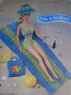 A Day at the Beach by PatternsAndSuch - Doll Patterns And Fabrics, via Flickr