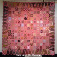Dear Jane quilt by Toco (Japan) seen at Baby Jane Quiltmakers