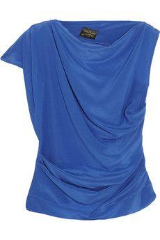 Vivienne Westwood Anglomania Shaman draped silk crepe de chine top | NET-A-PORTER