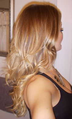 highlights with ombre