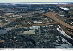 The Government of Alberta, Canada does not show you this on their nice, nice tar sands site. They show flowers, pristine forest, wildlife. They are deceptive and without shame. Lot of our air and water comes from this area not to mention the devastation caused by wasteful logging for pulp paper.  Keystone XL Pipeline is bad. There is a current glut of oil. This oil will be exported, not used in the U.S.
