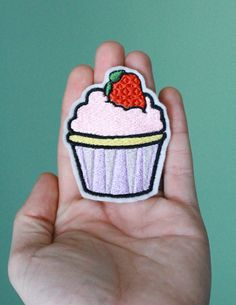 Customizable Embroidered Ironon Cupcake Patch by OKsmalls on Etsy, $5.00