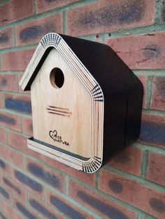 """Bird Nesting Box """"Bouleau Noir"""" Designed to attract small birds such as great tits and blue tits, made from quality exterior grade and FSC birch plywood, in which the roof side and bottom are formed in one piece. Exterior treated with Pure T Bird Nesting Box, Nesting Boxes, Bird House Feeder, Bird Feeders, Bird House Plans Free, Pure Tung Oil, Great Tit, Birdhouse Designs, Bird Houses Diy"""