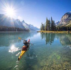 Kayaking in Alberta, Canada