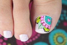 Discover recipes, home ideas, style inspiration and other ideas to try. Pretty Toe Nails, Cute Toe Nails, Toe Nail Art, Pedicure Designs, Manicure E Pedicure, Toe Nail Designs, Feet Nail Design, Magic Nails, Summer Toe Nails