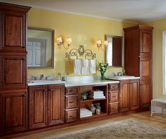 Bathroom Linen Cabinet – How to Keep your Small Bathroom Tidy and Neat Bathroom Linen Cabinet, Bathroom Vanity Cabinets, Staining Cabinets, Elegant Kitchens, Built In Cabinets, Small Bathroom, Master Bathroom, Bathrooms, Modern Bathroom