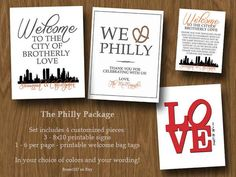 Philly Themed Pack  DIY Printable Pack  Wedding or by Room1117, $30.00