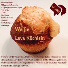 Rezept für Weiße Lava Küchlein, et voilà!