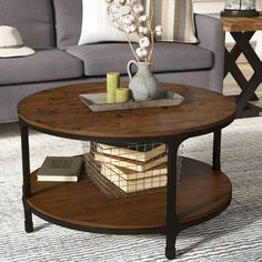 Shop a great selection of Carolyn Coffee Table Storage Laurel Foundry Modern Farmhouse. Find new offer and Similar products for Carolyn Coffee Table Storage Laurel Foundry Modern Farmhouse. Coffee Table Metal Frame, Solid Wood Coffee Table, Cool Coffee Tables, Coffee Table With Storage, Decorating Coffee Tables, Table Storage, Round Industrial Coffee Table, Table Tray, Console Table