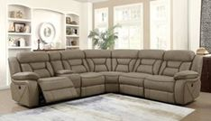 Carmague Reclining Sectional in Tan Furniture, Coaster Furniture, Reclining Sectional, Furniture Protection Plans, Recliner, Sectional, Big Furniture, Faux Suede Fabric, Coaster Fine Furniture