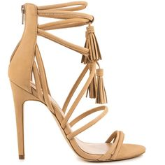 Aldo Women's Catarina - Bone ($120) ❤ liked on Polyvore featuring shoes, beige, strap high heel shoes, aldo, strappy high heel shoes, high heel shoes and aldo footwear