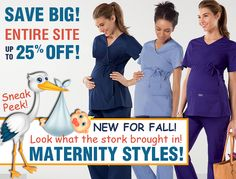 Look what the stork brought in! New Maternity Scrubs!