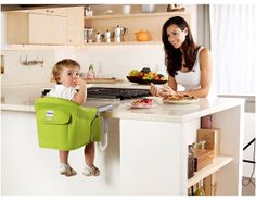 "Inglesina's Fast Table Chair is a wonderful alternative to a bulky high chair. This compact device can be folded into a carrying bag for dinners at home or out and about. Just attach the seat to the edge of the table for a stable seat for junior. The seat cover is removable, and a handy rear storage pocket can hold a bib, toddler place setting, or anything you might need to put down during dinner. Dimensions: Open: 17"" H x 14"" W x 11"" D"