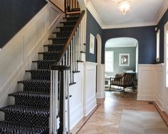 Classic Coastal Colonial Foyer - traditional - staircase - newark - Michael Robert Construction