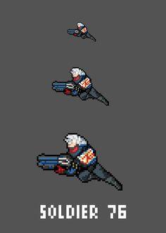 "[Pixel Art] - Soldier 76 / John ""Jack"" Morrison Overwatch Sprite Twitter:  pic.twitter.com/oFKvdCU5WL"