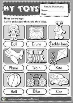 toys - picture dictionary