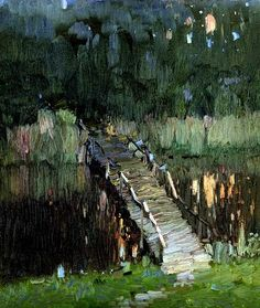 Oil Painting For Beginners, Oil Painting Techniques, Art Techniques, Nocturne, Abstract Landscape, Landscape Paintings, Abstract Art, Markova, Great Paintings