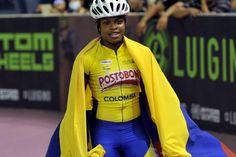 Geiny Pájaro, campeona mundial de pista en los 300 mts CRI juveniles, en el 2015.