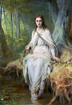 Frank Dicksee (1853-1928, Italy)   Ophelia, 1873