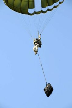 Parachuting with the Paratrooper folding bike. -