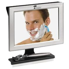 The 100% fog-less mirror. Every guy who shaves needs one of these mirrors. You can even shave in the shower with it and it wont fog up! Is gonna make a great fathers day gift for my dad.