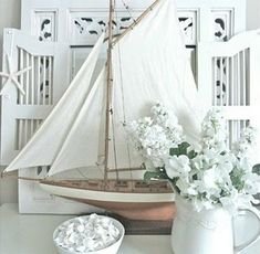 White bright and soothing for the beach.