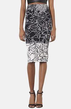 Print Garden Skirt | Topshop