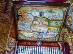 Deckenbild im Wat Chaimongkon