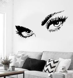 Wall Sticker Sexy Hot Eyes Girl Teen Woman Decal For Living Room Decor (z2561)