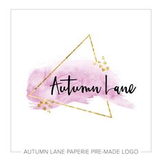 Premade Logo Design  Watercolor Triangle Logo by AutumnLanePaperie
