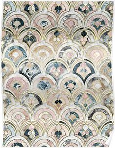 Home Decor Tips edhellin: Art Deco Marble Tiles in Soft Pastels by micklyn .Home Decor Tips edhellin: Art Deco Marble Tiles in Soft Pastels by micklyn Motif Art Deco, Art Deco Tiles, Art Deco Print, Art Deco Pattern, Tile Art, Mosaic Art, Mosaic Tiles, Painting Tiles, Mosaic Floors