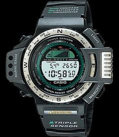 Casio Protrek Watches - Designed for Durability. Casio Protrek - Developed for Toughness Forget technicalities for a while. Let's eye a few of the finest things about the Casio Pro-Trek. Retro Watches, Vintage Watches, Watches For Men, Big Watches, Casio Protrek, Smartwatch, New Electronic Gadgets, Casio G Shock, Digital Watch