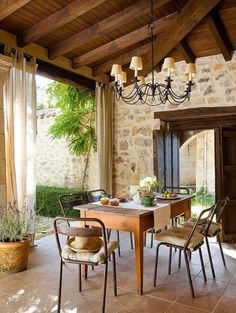rustic home, natural stone house Outdoor Rooms, Outdoor Living, Exterior Design, Interior And Exterior, Country Interior, Deco Boheme Chic, Sweet Home, Luxury Interior Design, Design Case