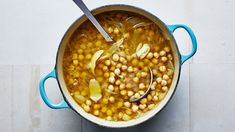 Quite possibly the best chickpeas ever- bon appetit. This hands-off recipe was inspired by Mina Stone, author of Cooking for Artists, who swears by adding lemon zest and olive oil for brightness and full-on flavor. We wholeheartedly agree! Chickpea Recipes, Vegetarian Recipes, Chickpea Soup, Healthy Recipes, Healthy Meals, Healthy Eating, Vegetable Recipes, Other Recipes, Great Recipes