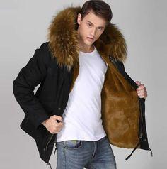 Image result for mens fur coat