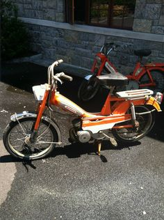Mobylette Moped Vintage pedal moped...motobecane1970